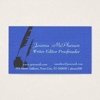 Journalists Stylish Writer  Editor Business Card