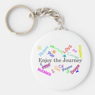journey basic round button keychain