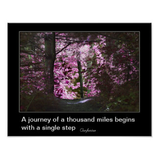 Journey Begins With Inspirational Poster
