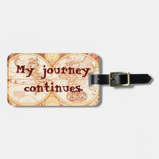 Journey continues - luggage tag