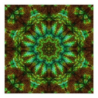 Journey Into Jade mandala poster