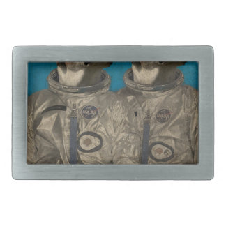 Journey into outer space rectangular belt buckle