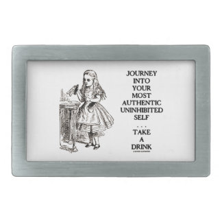 Journey Into Your Most Authentic Uninhibited Self Rectangular Belt Buckle