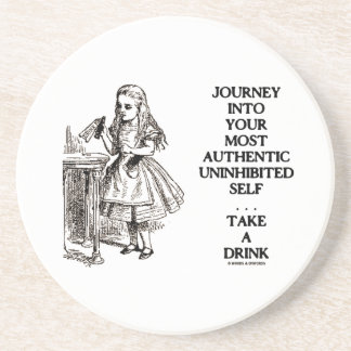 Journey Into Your Most Authentic Uninhibited Self Sandstone Coaster