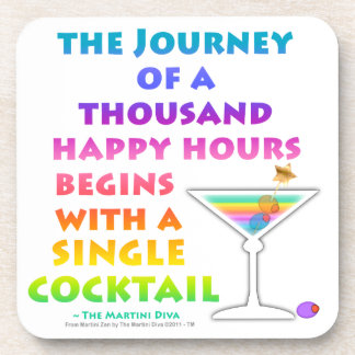 Journey of a Thousand Happy Hours Cork Coaster