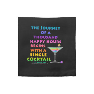 Journey of a Thousand Happy Hours Martini Zen Amer Napkin