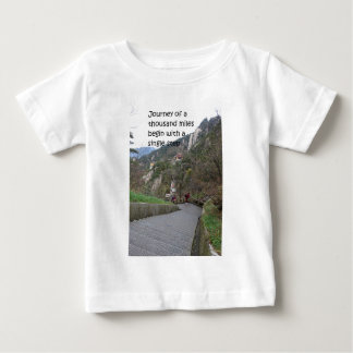 Journey of a thousand mile begin with single step baby T-Shirt