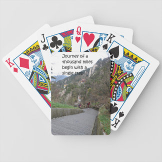 Journey of a thousand mile begin with single step bicycle playing cards