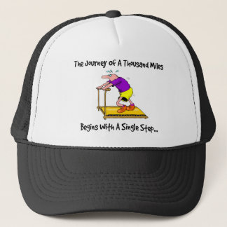 Journey Of A Thousand Miles - Exercise Motivation Trucker Hat