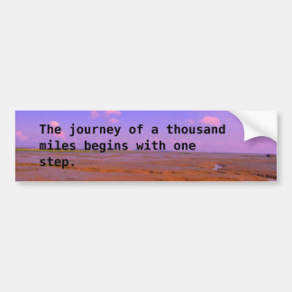 Journey of a Thousand Miles Sticker