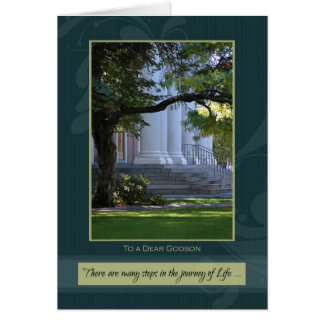 Journey of Life Godson Graduation Congratulations Greeting Card