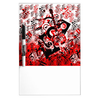 Journey of Music-Red_ Dry-Erase Board
