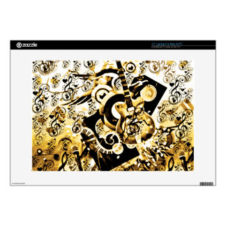 Journey Of Music,Rocks Gold_ Decals For Laptops