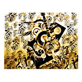 Journey Of Music,Rocks Gold_ Postcard