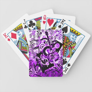 Journey Of Music,Rocks Purple_ Bicycle Playing Cards