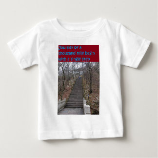journey of thousand mile begin with a single step baby T-Shirt