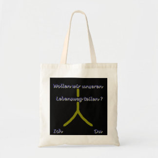 Journey through life divide tote bags