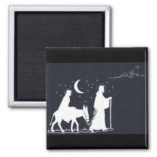 Journey To Bethlehem 2 Inch Square Magnet