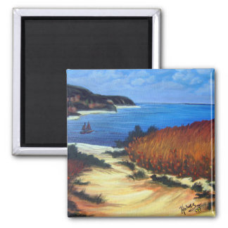 Journey To The Coast 2 Inch Square Magnet