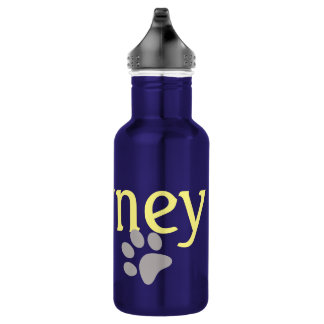 Journey with Paw Print Water Bottle