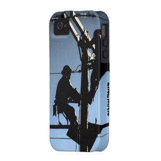 Journeyman Lineman iPhone 4/4s cover-BLUE iPhone 4/4S Cover