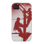Journeyman Lineman iPhone 4/4s Cover-RED