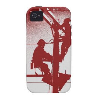 Journeyman Lineman iPhone 4/4s Cover-RED iPhone 4/4S Cases