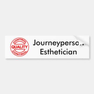 Journeyperson Esthetician Bumper Sticker