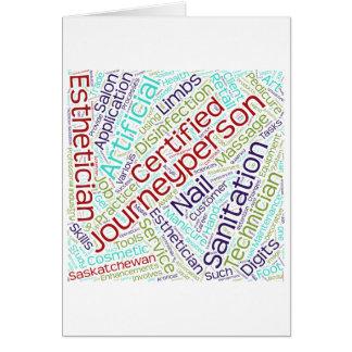 Journeyperson Esthetician cloud Card