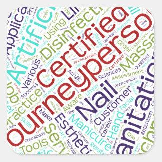 Journeyperson Esthetician cloud Square Sticker