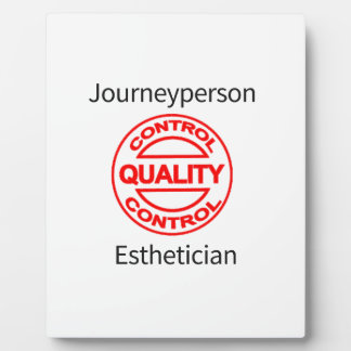 Journeyperson Esthetician Plaque