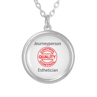 Journeyperson Esthetician Silver Plated Necklace