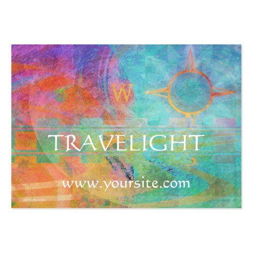 Journeys - Abstract Travel Theme Large Business Cards (Pack Of 100)