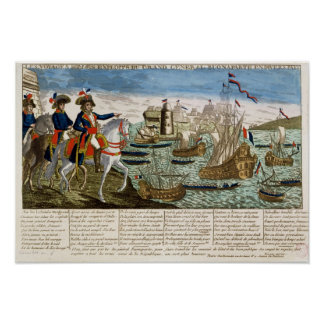 Journeys and Exploits of General Bonaparte  1798 Poster
