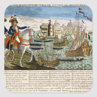 Journeys and Exploits of General Bonaparte  1798 Square Sticker