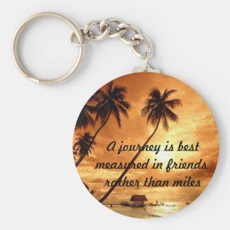 Journeys Basic Round Button Keychain