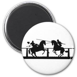Jousting 2 Inch Round Magnet