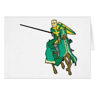 Jousting Green Knight Greeting Card