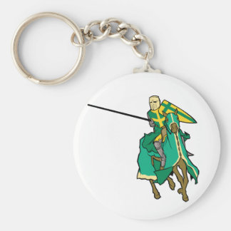 Jousting Green Knight Key Chain