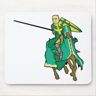Jousting Green Knight Mousepad