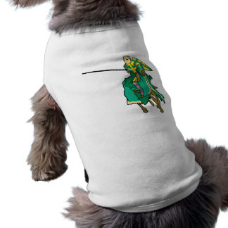 Jousting Green Knight Pet T Shirt