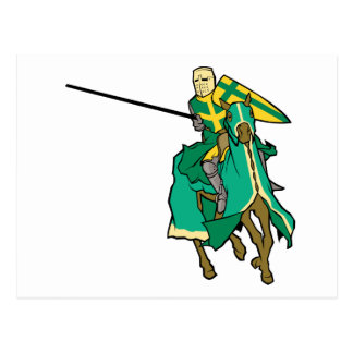Jousting Green Knight Postcards
