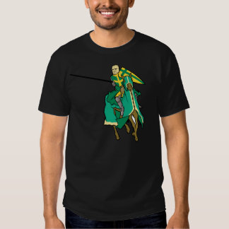 Jousting Green Knight T-shirt