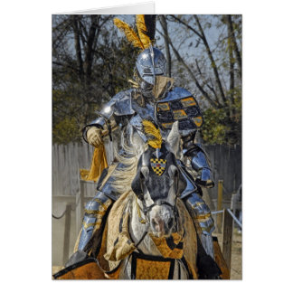 Jousting Horse & Knight Card