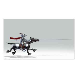 Jousting Knight Business Card