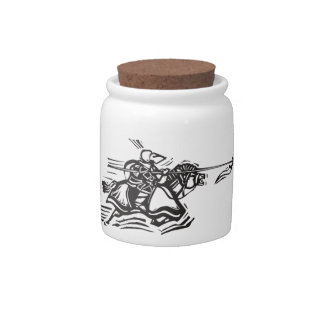 Jousting Knight Left Candy Dish