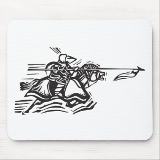 Jousting Knight Left Mouse Pad