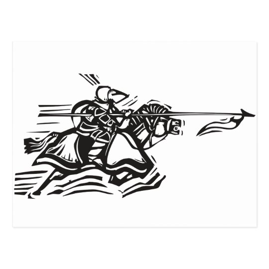 Jousting Knight Left Postcard