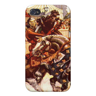 Jousting Knights iPhone Case Case For iPhone 4