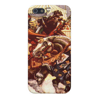 Jousting Knights iPhone Case iPhone 5 Cases